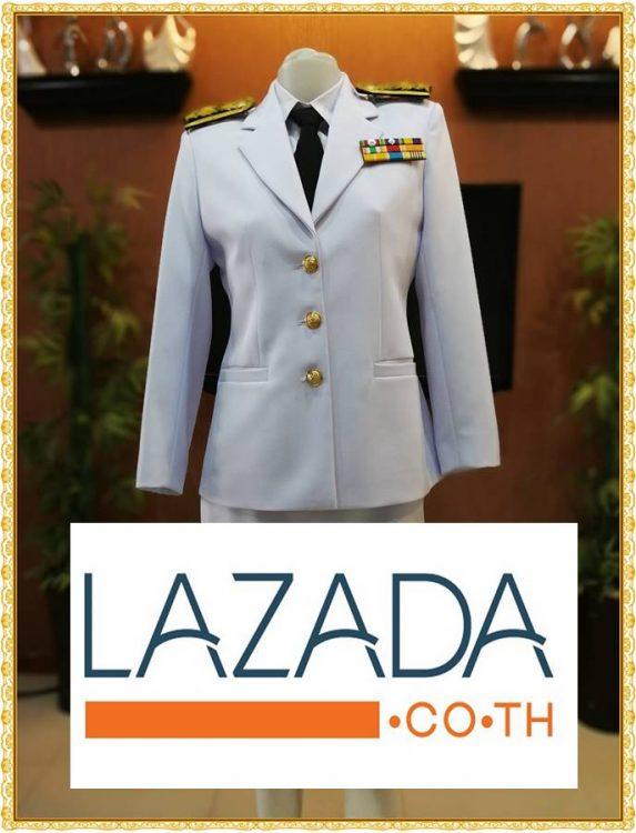 ลิ้ง Lazada ชุดปกติขาว ของผู้ชาย-ผู้หญิง ชุดขาวใหญ่ ชุดขาวปกติของข้าราชการพลเรือน เก็บเงินปลายทาง